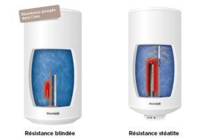Différence entre un chauffe-eau blindé et stéatite ?