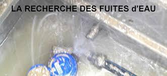 recherche et réparation fuite d'eau