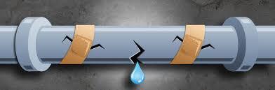 fuite eau canalisations cassées